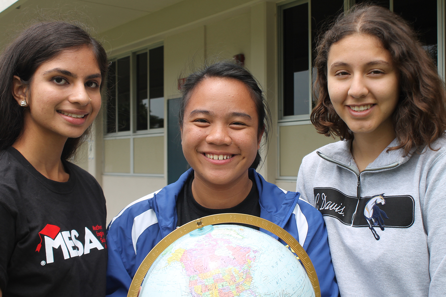 Dhruvi Dalwaldi (India), Jasmine Juliano (Philippines) and Leslie Pulido (Mexico) represent all parts of the globe.