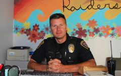Officer Carey settles in