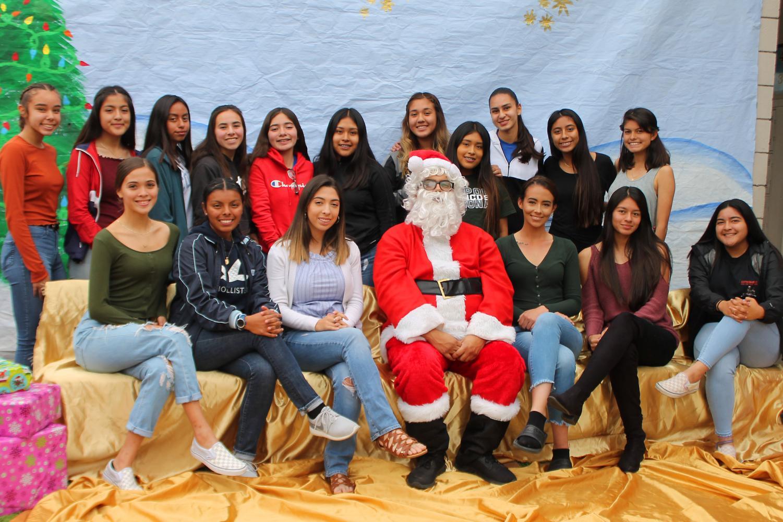 Raiders with Santa