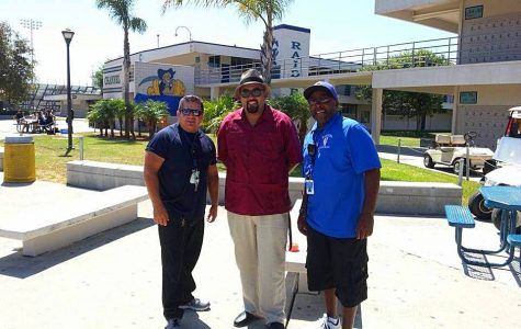 Mr. Antoine Latimer, right, with fellow supervisor Mr. Pete Rivas and paraeducator Mr. Fernando Calzada