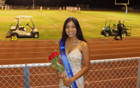 Muriel Anthony on Homecoming night: she is one of CI's valedictorian candidates