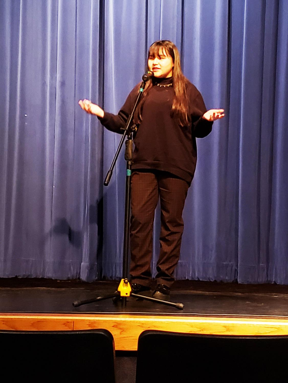 Jasmine Escobedo recites